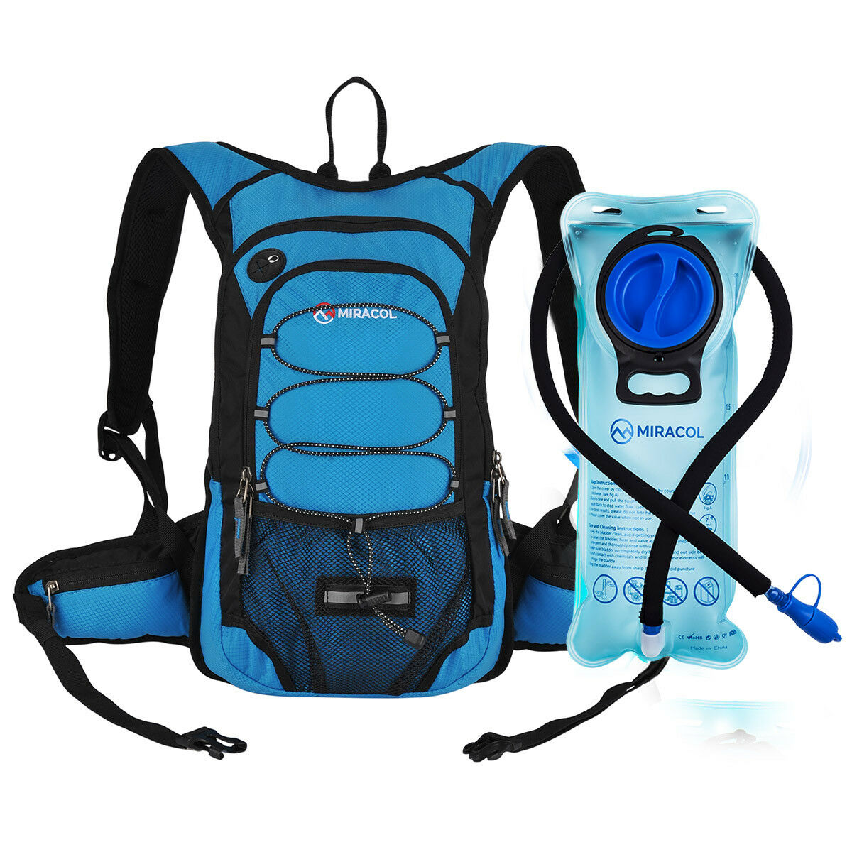 MIRACOL Hydration Backpack with 2L Water Bladder Thermal Ins