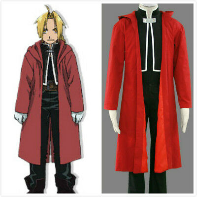 Fullmetal Alchemist Edward Elric's Cosplay Costume Red Cloak Only Halloween  (Edward Elric Halloween)