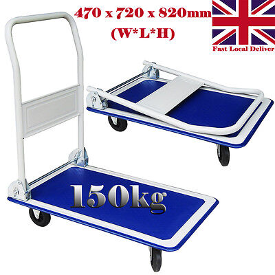 Heavy Duty 150kg Folding Hand Platform Trolley Cart Warehouse Picking Sack Truck