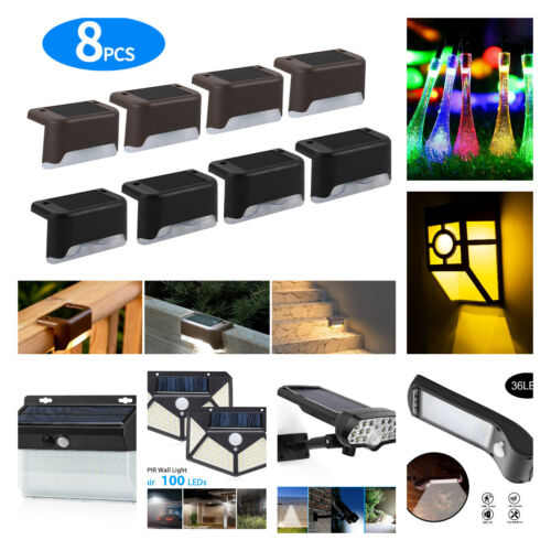 Waterproof LED Solar Lights Motion Sensor Wall Light Outdoor Garden Yard Lamp