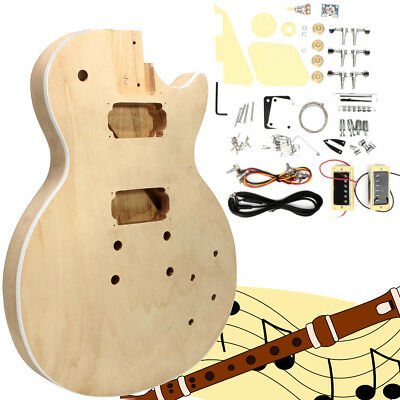 Electric Guitar DIY Mahogany Body Rosewood Fingerboard Kit B