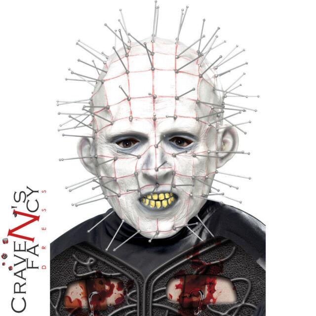 Adult Pinhead Mask Hellraiser Halloween Fancy Dress Scary Latex Pin Head Mask