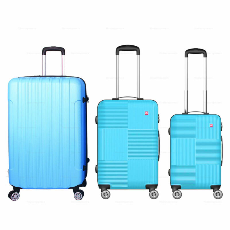 """3 Pcs 28"""" 24"""" 20""""ABS 360° Wheels Spinner Luggage Trolley Suitcase Travel Luggage"""