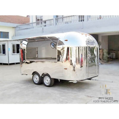12 Mobile Food Cart Trailer - Made To Order Stainless Steel Custom Food Truck