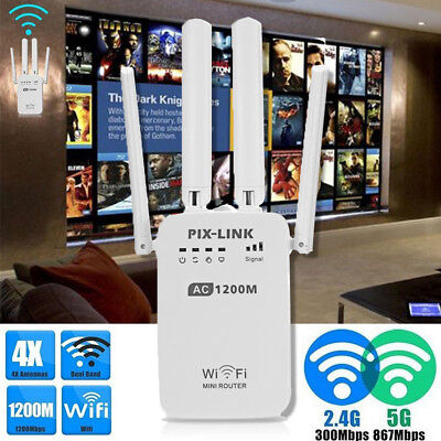 1200Mbps WiFi Adapter 2.4/5.8GHz USB 2.0 Dual Band WLAN Empfänger Stick Dongle