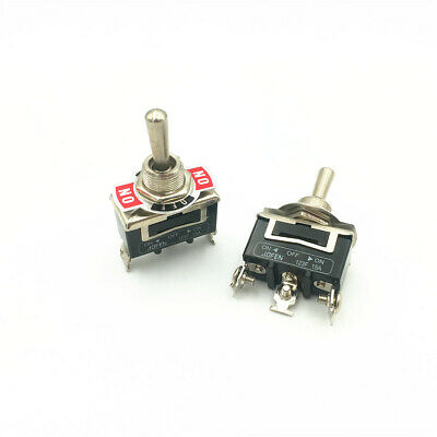 10pcs Momentary Toggle Switch 123f 3-pin 3 Position On-off-on Dpdt 15a 250vac