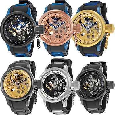 Invicta Skeleton Russian Diver Mechanical Stainless Steel Mens Watch