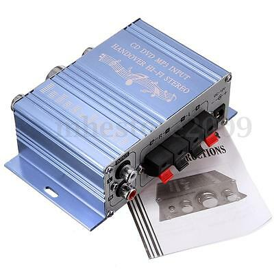 Mini Hi-Fi Subwoofer Stereo Audio Amplifier 2 Channel Amp Car Motorcycle Boat