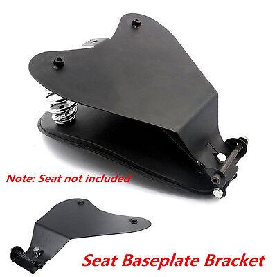Black Solo Seat Baseplate Bracket Base For Motorcycle Sportster Bobber Chopper