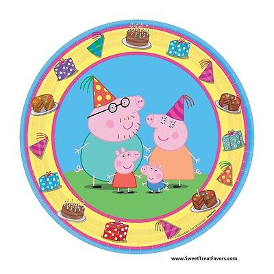 PEPPA PIG Party FAVOR Birthday Plates Cake Decoration Dessert Supplies Piggy  NW (Peppa Pig Birthday Plates)