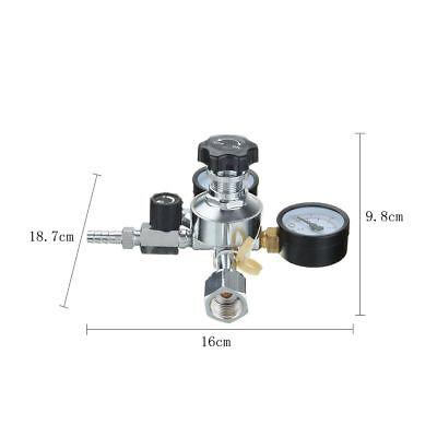 516 Inch Hfs Co2 Regulator Dual Gauge Valve For Beer Brewing Kegerator