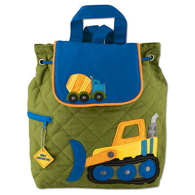 Stephen Joseph Boys Quilted Construction Backpack - Cute Toddler Preschool Bags