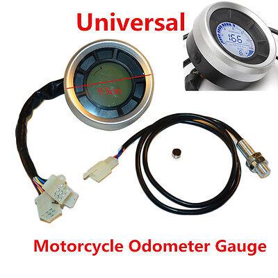 UNIVERSAL DIGITAL LCD BACKLIGHT MOTORCYCLE SPEEDOMETER ODOMETER TACHOM