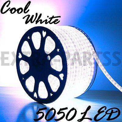 5M 300Leds 5050 COOL WHITE Super Bright LED Strip SMD Light Waterproof 12V DC US