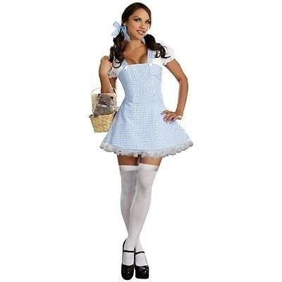 Dorothy Costume Adult Sexy Wizard of Oz Halloween Fancy Dress (Dorothy Oz Costume Adults)