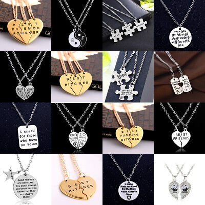 2/3PC Encourage Best Friend Gift Crystal Necklace Pendant Jewelry Friendship - Friends Necklace