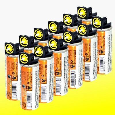 12 Gaskartuschen (Fuel Cells) gelb z.B. für Montana Paslode Hitachi Bostitch Gas