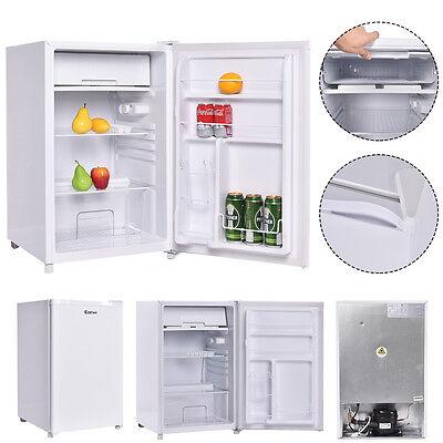 4.4 Cu. Ft. Compact Single Reversible Door Mini Refrigerator and Freezer Office