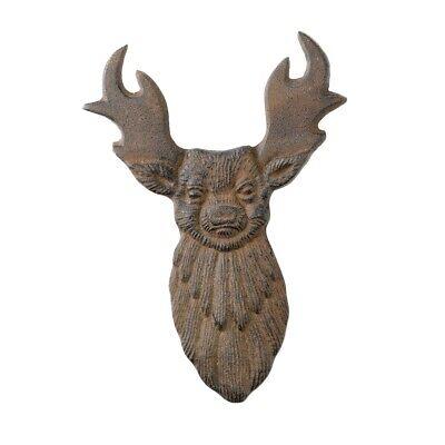 Rustic Cast Iron Deer Buck Antlers Boot Jack Elk Shoe Scraper Home Hunting Decor