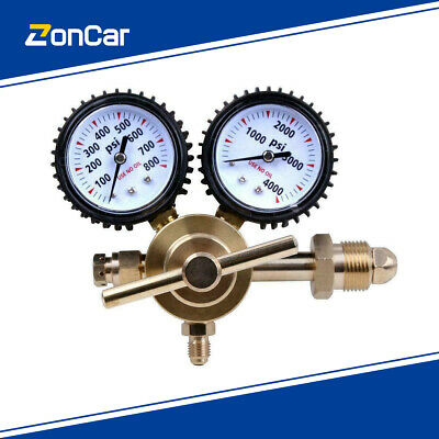 800psi Nitrogen Regulator Gauge Pressure Equipment Brass Inlet Connection Gauges