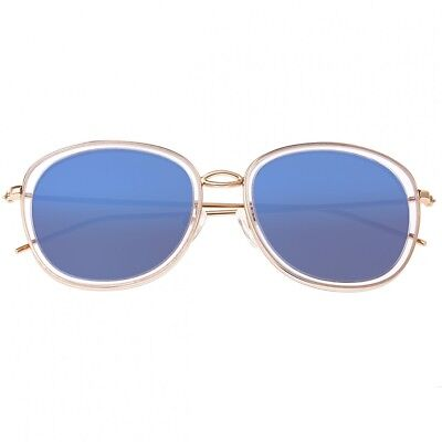 Bertha Scarlett Women's Polarized Blue Lens Rose Gold Sunglasses BR027BL