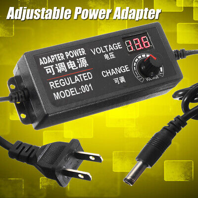 Speed Control Volt Acdc 9-24v 3a 72w Adjustable Power Adapter Supply  J