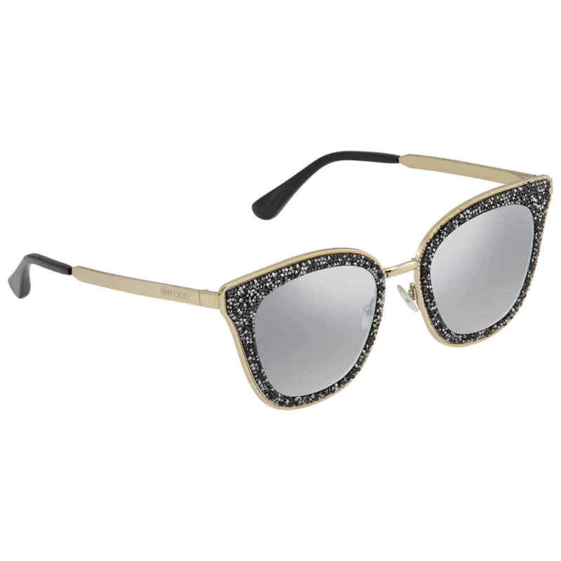 Jimmy Choo Grey Mirror Shaded Silver Cat Eye Ladies Sunglasses LIZZY/S FT3 63