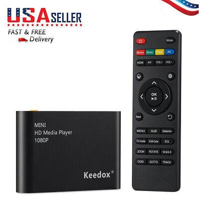 HD 1080P Smart TV Multi Media Box Player HDMI AV YUV Adapter SD MMC MS Remote US