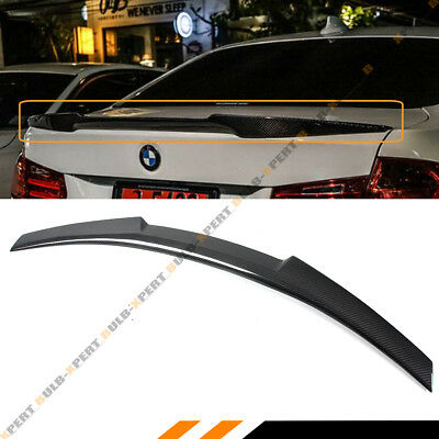 FOR 2006-11 BMW E90 3 SERIES SEDAN CARBON FIBER TRUNK LID SPOILER WING-M4 STYLE