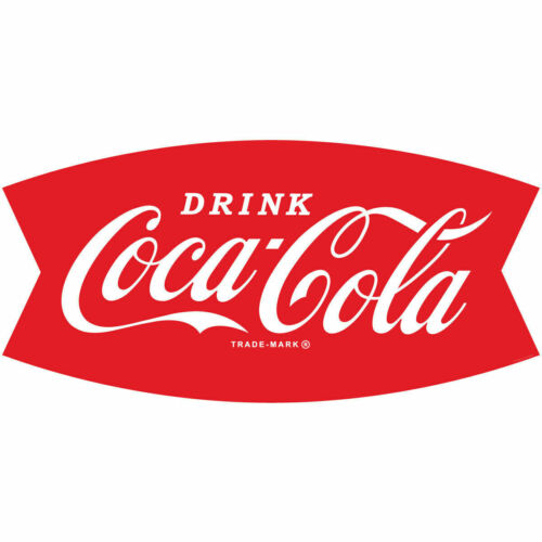 Coca-Cola decal sticker 15inch WHITE coke easily applied Buy 3, Get 4th FREE