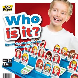 Who is it? Board Game Reveal Guess Who Your Player is Kids Traditional Suspect