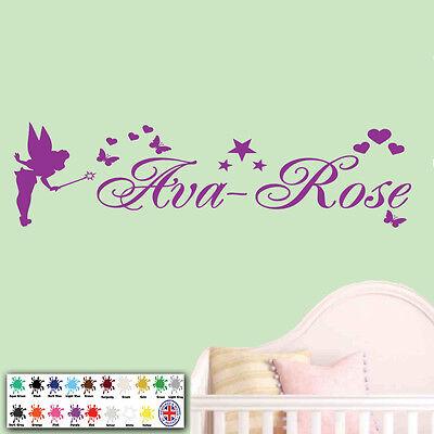 Wall Art Sticker - Personalised Name Fairy Stars Girls Bedroom Childrens Vinyl