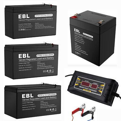 EBL 12V 7AH 9AH 12AH 20AH Rechargeable SLA Sealed Lead Acid