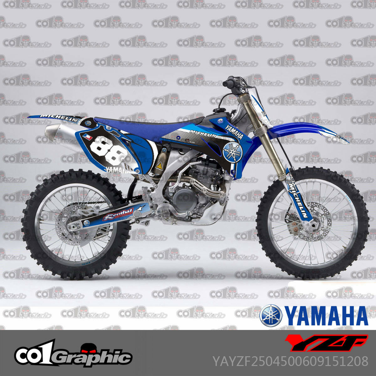 GRAPHICS DECALS STICKERS FULL KIT FOR YAMAHA YZ250F YZ450F YZF250//450 2006-2009