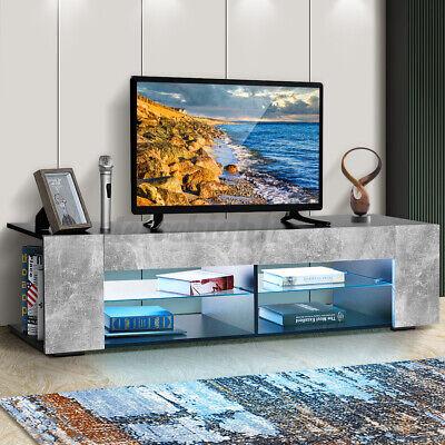 "Modern 57"" TV Stand Console w/ RGB LED Lights Cabinet Entertainment Center Shelf"