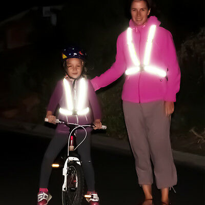 Adjustable Safety Security Visibility Reflective Vest Gear Stripe Cycling Jacket