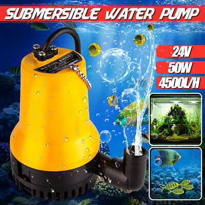 24v 4500lh Submersible Water Pump Electric Clean Drain Dirty Pool Pond
