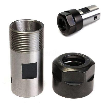 Collet Er16a Chuck Motor Shaft Spindle Extension Rod 8mm Set For Cnc Milling
