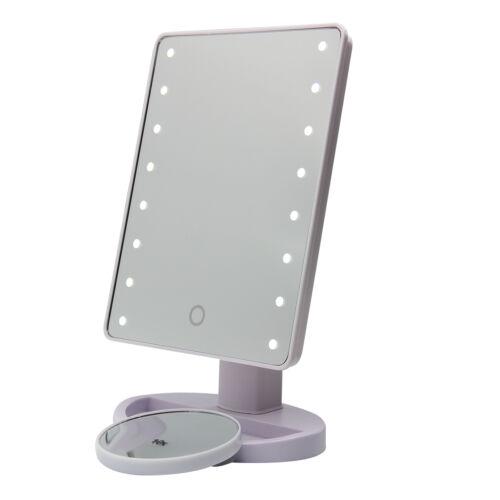 led vergr erung spiegel kosmetikspiegel schmink mit touch screen spiege 10 fach ebay. Black Bedroom Furniture Sets. Home Design Ideas
