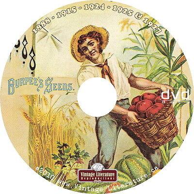 1888 - 1959 Burpee Seed Catalogs  on DVD