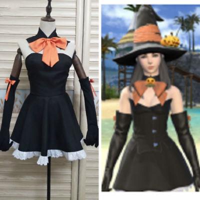 Fantasy Themed Costumes (Final Fantasy XIV RyseM Katherynne Halloween Theme Dress Cosplay costume)