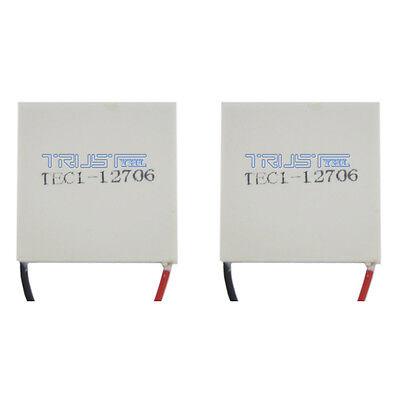 2x Tec1-12706 Heatsink Thermoelectric Cooler Cooling Peltier Plate Module12v60w.
