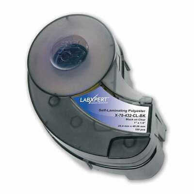 Brady 103586 Idxpert High Adhesion Glossy Clear Polyester Labels X-78-432-cl-bk