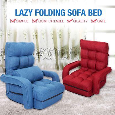 Cushion 5 Position - Adjustable 5-Position Folding Floor Chair Lazy Sofa Cushion Gaming Chair