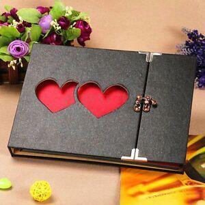 Hollowed Heart Love Photo Image Album Scrapbook DIY Craft Gift Anniversary