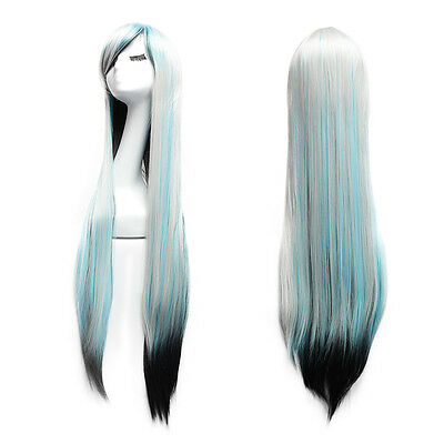 Costume Hair Color (100cm Long Straight Wig Fashion Cosplay Costume Anime Hair Full Wig Muti-color)