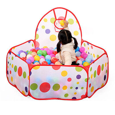 Kids Children Portable Ball Pit Pool Play Tent for Baby Boy Outdoor Game Toy PG - Ball Toys