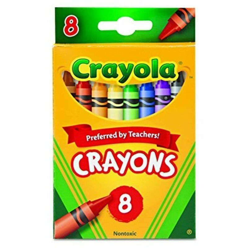 Crayola Crayons School Supplies Classic Colors 8 Count