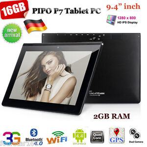 9,4 Zoll Tablet PC PIPO P7 3G Android 4.4 Quad-core 16GB Dual Kameras WLAN GPS