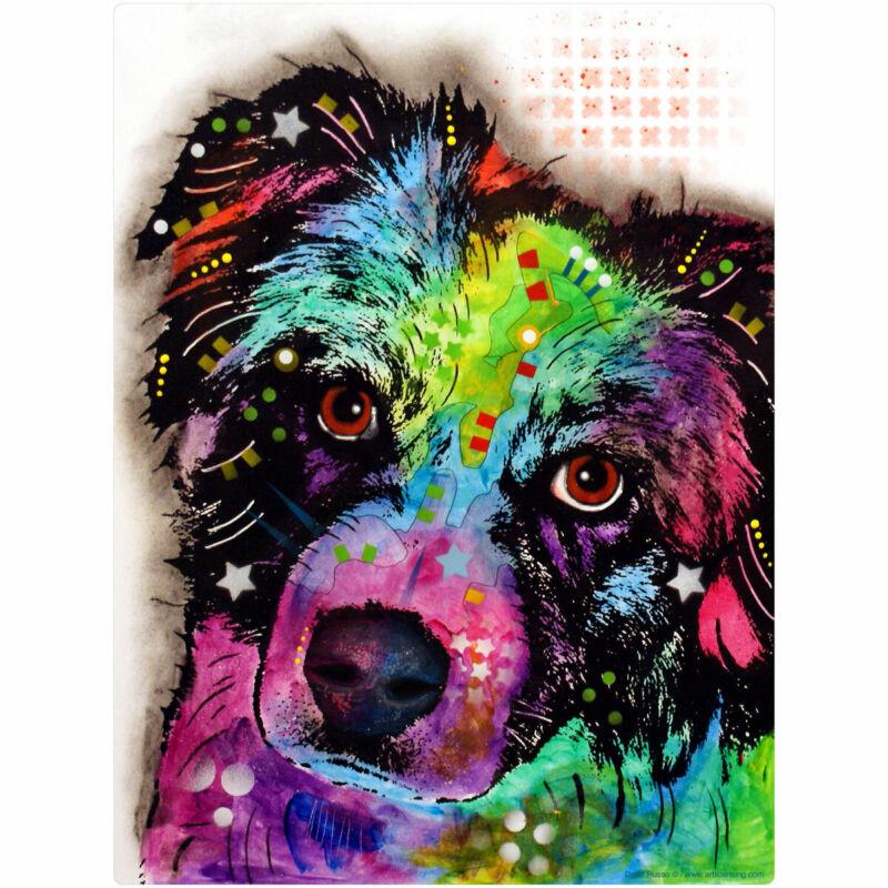 Aussie Australian Shepherd Dean Russo Dog Wall Decal 24 in. Removable Wall Art